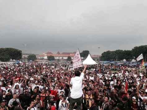 Foto kenangan ketika menggelar acara Jogja Istimewa untuk Jokowi-JK